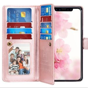 Accessories - iPhone X Xs Rose Gold Wallet Case